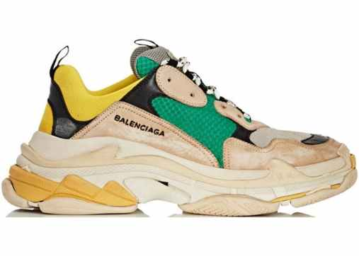 Balenciaga-Triple-S-Beige-Green-Yellow