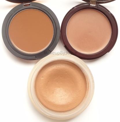 Sonia Kashuk Undetectable Creme Bronzer Comparison Swatch